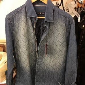 Stone Rose quilted denim washed Shirt